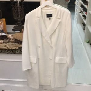 Eloquii white double breasted dress size 18